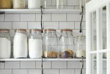 An organized kitchen.Pantry / Ideas