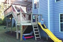 Kid-friendly backyard fun ideas / From simple DIY to more elaborate projects, Atlanta Decking & Fence offers up some great ideas to ensure your backyard delights and amazes your children and their friends!