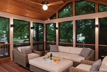 Three Season Porches / One way to reduce costs when considering a back porch addition is to choose a three season porch. You won't have the additional costs of air conditioning or heat, but you can opt for ceiling fans and Eze-Breeze windows to keep you warmer or cooler and extend enjoyment of your porch for more months through the year.
