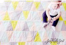 Quilt Inspiration / Colorful and Modern Quilt Design Inspiration, Tutorials, Patterns