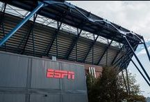 ESPN Broadcast Village Modular Facilities / ESPN wanted new facilities and set out to source modular buildings and a contractor to manage the project. After a lengthy proposal and interview process, Triumph was awarded a 3-year contract.