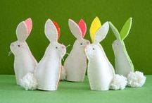 Easter & Spring / Kids crafts, color inspiration and mood board for Spring and Easter