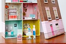 Doll House Inspiration / Bright and colorful inspiration for Nova's DIY cardboard doll house