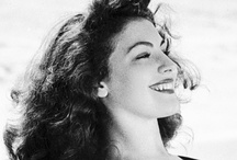 """Ava Gardner"" / Ava Gardner lovely actress. Actress Ava Lavinia Gardner aka Ava Gardner....Born December 24, 1922 North Carolina..Died January 25, 1990 (aged 67) England....Cause of death Pneumonia....3 Husbands (Mickey Rooney, Frank Sinatra)... Two strokes in 1986 left her partially paralyzed and bedridden. Smithfield North Carolina has an Ava Gardner Museum. Affair with Howard Hughes and actors George C. Scott, Robert Taylor. Live-in boyfriend companion, actor Benjamin Tatar. no children due to 2 abortions / by Lisa Boyce"