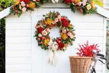 Natural Christmas / Combining the traditional Christmas themes with beautiful fresh flowers and foliage adds texture and vibrancy to your decorations, making any home feel like the perfect place to cosy up for Christmas.
