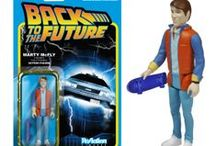 Funko Back to the Future™ ReAction Figures / These 3 3/4-inch tall ReAction Figures have 5 points of articulation and features the 1980s style card back design, with a coffin-style blister where the action figure is displayed! Each card back features a memorable look of the character from the classic movie.
