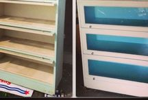 Painted Barrister Bookcases