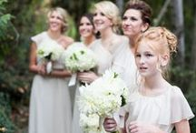 Real Weddings- White & Ivory / Bridesmaid dresses in the Joanna August colors Going To The Chapel, Ivory Lace, and White Wedding with a little bit of inspiration thrown in!