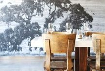 Restaurants / Environmental graphics that can turn a restaurant, from a simple space, into a beautiful dinning experience.