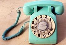 Vintage Telephones / Phones are advancing at a ridiculously fast pace, and I want an iphone as much as the next girl.  However, if I ever need a house phone, I'm going old school. :) / by MacKayla Testerman