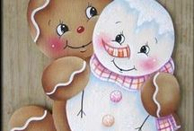 DP Gingerbread, Snowmen, & Penguins Painting Projects / by Linda Johnson