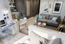 For Small Living Spaces / Interior Inspiration for Tiny Homes / by Marianne Skuttles