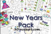 New Year's Kids Activities / Everything you need from printables to crafts to recipes and more to help your family celebrate New Year's!