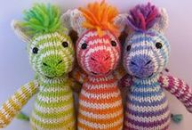 Knitted Toys and Doll Clothes / ♥ I Love Knitting for My Grandkids! ♥ / by Claudia Womack ❀