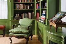 Home - book case and arm chair / how to set up bookcase in living room, making nice cossy corner