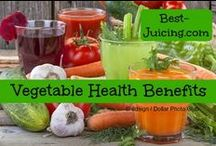 Best Vegetable Health Benefits / The best of vegetable health benefits! Juicing easily and instantly helps you to increase your intake of fresh fruits and vegetables. Health benefits can include from better heart health to brain protection. I love what juicing does for my skin, my hair and my nails! Did you know that watercress can reduce wrinkles significantly? Or that kale is crucial for cancer prevention? Or that beet juice can help you with better workout performance? And that cruciferous vegetables can boost weight loss?
