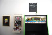 ARTCADE at Beach / Our latest show - ARTCADE - come down and try vintage arcade machines, and win artwork!