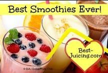 Best Smoothies Ever / While I love juicing, smoothies will always be another favorite 'fast food'! The best smoothies ever are recipes loaded with vitamins, minerals and other health-promoting goodies. What a wonderful, filling snack to enjoy. And huge family fun to prepare. Sweetness can be added with honey or dates. Fiber can come from fruits and veggies. My best smoothie ever also has healthy oils in the form of ground nuts and ground flax seed. Enjoy your smoothie recipes!