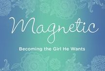 """Magnetic: Becoming the Girl He Wants / She wonders: What does she have that I haven't got?  Why doesn't he ask me out?  What's wrong with me?  Magnetic empowers her to: ·      Stop feeling powerless over emotions and people's opinions as she gains unshakeable confidence. ·      Limit the draining affect of """"girl drama"""" so she can invest her time in becoming the best she can become ·      Replace the agonizing frustration of wanting to be noticed and liked with a deep assurance that she already is  http://www.lynncowell.com/magnetic/"""