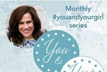 You and Your Girl (monthly series) / As a Mom and Mentor to young women, I want to come alongside you, helping you to connect with your girl in ways you may not yet have thought of.  On a spiritual, friendship, parental & loving level.  Each month, my #youandyourgirl series provides you with daily opportunities to connect with your girl in some way. It might be through prayer, face to face, or discretely. **See my boards for each month's series**