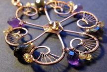 Wire-working - not earrings, necklaces, pendants, rings / Imagination is the highest kite one can fly. ~Author Unknown  / by CreatedWithFire Studios & Designs