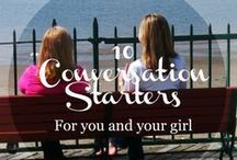 10 Conversation Starters / 10 Conversation Starters for You and Your Girl | January 2015 | part of the monthly #youandyourgirl series by Lynn Cowell