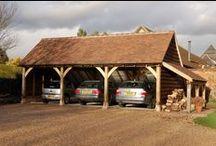 Parking / UK style Oak carports are my favourite parking arrangement...gravel... heaven for me