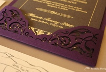 Vintage Deco Wedding Invitations / Laser cut, foiling and letterpress, these invitations are all about vintage glam.
