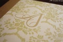 Garden Wedding Invitations / Elegant garden style wedding invitations.
