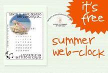 Clock and Calendar for webpage, free download / Calendarietti ed orologini per web page di ogni tipo
