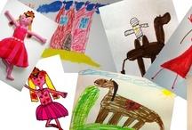 stuffed animals or dols made from childsdrawing / Beesten of poppen gemaakt n.a.v. een kindertekening te bestellen bij mij, foto tekening sturen en daarna afmetingen en prijs bepalen