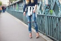 Wearing Denim / loads of inspiration for wearing denim / by Beth Jones