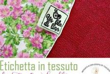 Etichette in carta e stoffa