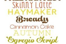 fonts  / by Kelly Thompson