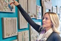 Jewelry Display Ideas / Cute inspiration for jewelry display boards