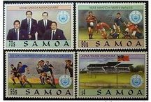 Samoan Stamps & Postcards / My grandma collected Samoan postcards and stamps. She would show me her collections and tell all about her times growing up in Samoa. / by Samoan Genealogy