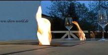 Unikate aus Holz / Holz Deko Unikate so wie Tische aus Holz für innen und außen mit oder ohne Feuerstelle in jeder Größe und nach ihren Vorstellung Lampen aus altem Holz -Lounge Möbel -Deko-Säulen