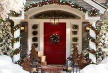 Christmas / Christmas inspiration, home decor and decorations, trees, wreaths, mantels, lights, recipes, centerpieces, snow, porches, home tours, ornaments, ideas, home decorating, outdoors, poinsettias, vintage, and more