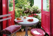 Porches, Patios, Balconies and Sun Rooms / Beautiful outdoors spaces.