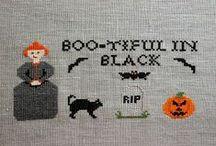 Boo-tiful in black / Original design from http://stitchersanon.blogspot.com **--** Diseño original de http://stitchersanon.blogspot.com