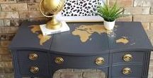 Themed Furniture Makeovers / Furniture themes, romantic, decoupage, stenciled, two tone, numbers, alphabet, cowboys, Indians, and more