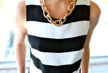 Beauty: Fashion / bold colors patterns and pops of black and white plus mega accesscories