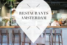 """Restaurants - Amsterdam / Looking for the best and most trendy restaurants in Amsterdam? Then check out Your Little Black Book's list of must visit restaurants in Amsterdam, The Netherlands. Discover the best Bistros, Cafes, Bars, Hotspots & Restaurants in the different neighbourhoods of Amsterdam. ➜ DOWNLOAD OUR APP with over 700 addresses, just search for """"YOURLBB"""" in your app-store!"""