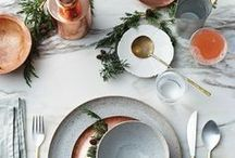 Tablescapes - Table Settings / How to put on a display on your dining room table and the many things I would love to have for my own table someday.