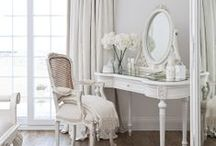 Dressing Tables / A place to get beautiful and admire your fragrances and makeup all at the same time.