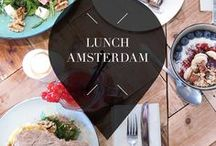 """Lunch - Amsterdam / Your Little Black Book knows the best lunch spots in Amsterdam (The Netherlands), in every neighbourhood. From lunch hotspots, restaurants, and bars, to cafes and bakeries. ➜ DOWNLOAD OUR APP with over 700 addresses, just search for """"YOURLBB"""" in your app-store!"""