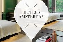 """Hotels - Amsterdam / In which hotel should you stay when you travel to Amsterdam, The Netherlands? Your Little Blackbook has great tips for design hotels, budget hotels, luxury hotels and more. ➜ DOWNLOAD OUR APP with over 700 addresses, just search for """"YOURLBB"""" in your app-store!"""