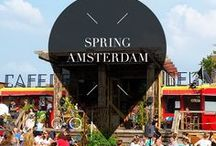 """Spring - Amsterdam / Travel to Amsterdam, The Netherlands, during spring for beautiful canal views, boat rides, and rooftops to go for drinks. Your Little Black Book knows the must visit hotspots, restaurants, attractions, bars and other places to visit during this season. ➜ DOWNLOAD OUR APP with over 700 addresses, just search for """"YOURLBB"""" in your app-store!"""
