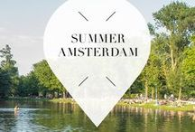 """Summer - Amsterdam / Travel to Amsterdam, The Netherlands, during summer for beautiful canal views, rent a bike and enjoy the parks. Your Little Black Book knows the must visit hotspots, restaurants, attractions, bars and other places to visit during this season. ➜ DOWNLOAD OUR APP with over 700 addresses, just search for """"YOURLBB"""" in your app-store!"""