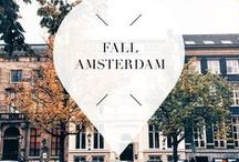 """Fall - Amsterdam / Travel to Amsterdam, The Netherlands, during fall for romantic canal views; go on a boat tour and see all the colorful trees. Your Little Black Book knows the must visit hotspots, restaurants, attractions, bars and other places to visit during this season. ➜ DOWNLOAD OUR APP with over 700 addresses, just search for """"YOURLBB"""" in your app-store!"""